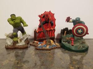 VINTAGE AURORA MODEL KIT SET (1974) Spider-Man, Hulk & Captain America