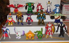 "2001 Bandai 16 Digimon Digital Monsters 2"" Action Figure collection Lot HTF Rare"