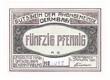 Dermbach 50 Pf. 01.01.1921 ohne Wz. & Serie Grab. 264.3 a Erh. I