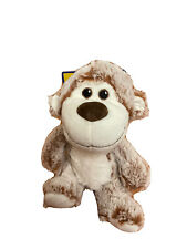Wags and Purrs~ 7'' Two Tone Monkey ~ Dog Toy Soft  Plush Squeaker