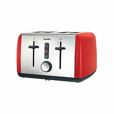 Breville VTT759 Colour Collection 4-Slice Toaster RED High Lift Easy Function