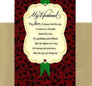 Merry Christmas Husband Love Is A Warm Fireside Theme Hallmark Card