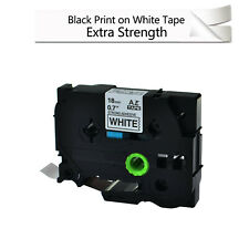 1PK Extra Adhesive TZe TZ S241 Black on White Label Tape For Brother PT-300 1