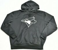 Toronto Blue Jays MLB Bulletin Hoodie BLACK AND WHITE Sweater Mens Size S 194G2