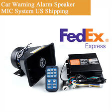 400W 8Tone Loud Car Warning Alarm Siren Horn Speaker MIC System with Accessories