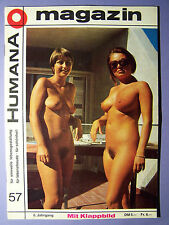 Männermagazin Humana Ausgabe: 57 / 6 Jahrgang Top Sammlerstück FKK