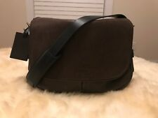 Polo Ralph Lauren Core Leather Mahogany Messenger Laptop Shoulder Bag NWT $428