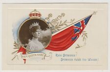 Royalty postcard - H.M Queen Mary - Embossed