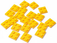 LEGO - 20 x Basic Platte 2x2 hell orange ( bright light orange ) / 3022 NEUWARE