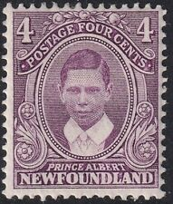 NEWFOUNDLAND-1911-16 Coronation 4c Purple Sg120 MOUNTED MINT