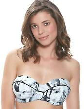 Fantasie Cocoa Island Bandeau Strapless Bikini Top 6222 New Womens Swimwear