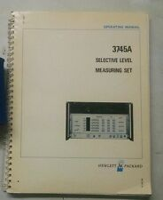 Hewlett Packard 3745A Selective Level Measuring Set Operating Manual