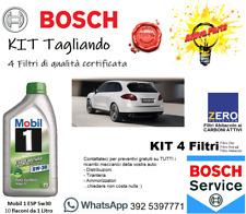 KIT 3 Filtri per Porsche Cayenne 4.8 (TUTTI)  Bosch + Zero + 10Lt Mobil 5w30