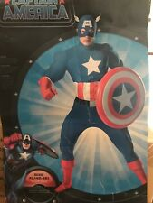 CAPTAIN AMERICA DELUXE ADULT COLLECTORS COSTUME EXTRA LARGE XL (42-46) DISGUISE