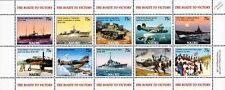 WWII Route To Victory/Battle of Nauru Aircraft & Warship Stamp Sheet/2005 Nauru