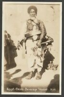 Postcard Egypt Africa a Beverage Vendor in Cairo RP
