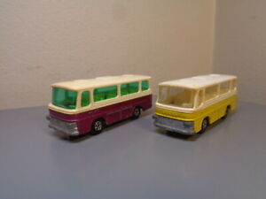 MATCHBOX LESNEY SUPERFAST VINTAGE SETRA COACH BUS COLLECTION VERY GOOD COND.
