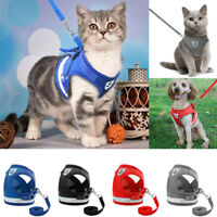 Kitten and Clothes Vest Walking Pets Adjustable Leash Puppy Harness Jacket Cat