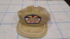 Vintage Holly Hills Derby Golf Cap Hat Strapback 70s 80s Deadstock Throwback
