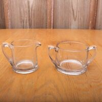 Vintage Clear Glass Sugar and Creamer
