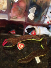 Authentic MWMT-MQ Slither the Snake *RARE* GERMAN 3rd/1st Gen Tag Ty Beanie Baby