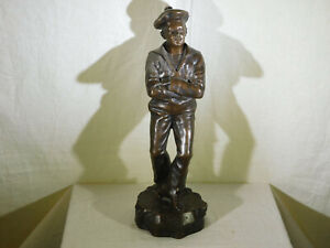 *Jean Garnier*Listed Antique Bronze Sculpture Stamped Foundry Mark Signed #'d
