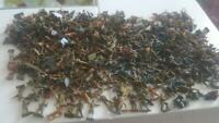 460(approx) AIRFIX-Matchbox Painted(mostly) German/British etc soldiers WW2-1:72