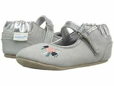 NIB ROBEEZ Shoes Mini Shoez Blossom Ballet Gray 3-6m 2