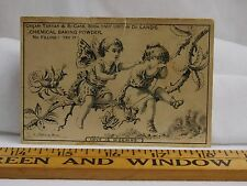 """De Land's & Co's Baking Powder Cherubs Insects Roses """"Love Is Weeping"""" F38"""