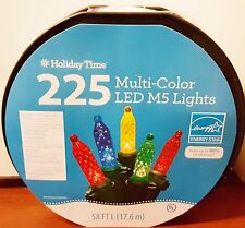 Set of 225 LED M5 Multi-Color Roll Crystal Christmas Lights, 58 ft