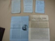1861   Rare Slave Bible Circular Newspaper Lot RARE- help to read the Bible
