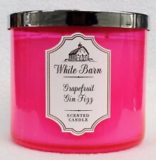 BATH /& BODY WORKS WHITE BARN GRAPEFRUIT GIN FIZZCANDLE 3 WICK LG 14.5OZ 2017 EDT