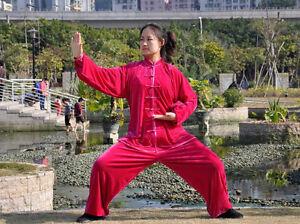 11 Colors  Kung Fu Tai Chi Wu Shu Shaolin Gold Velvet Uniform Clothes Suit