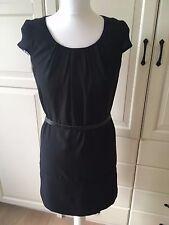 NEU H&M Damen Kleid Chiffon Hängerchen Tunika Urlaub Party 34 XS schwarz