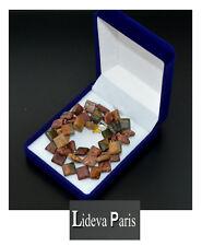 Kette Indian Achat Perlenkette Edelsteinkette Halskette Edelstein