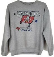 NFL Tampa Bay Buccaneers Size L Gray Pullover Sweater 2002 NFC Champions