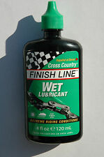 FINISH LINE Wet Lubricant - Bike Bicycle Cycle MTB BMX Lube 4oz NEW!