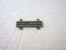 ARMY ROCKET LAUNCHER QUALIFICATION BAR SILVER OXIDE FINISH STYLE #2:K7