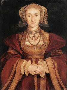 Dream-art Oil painting Holbein Hans - Female Portrait of Anne of Cleves canvas