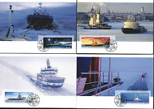 Finland Maxi 2005 Ships Ice Breakers full Set Mint