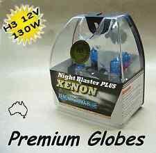 2 x  H3 Globes 130W Suit Nite Stalker 215 Square / Rectangular Driving Lights