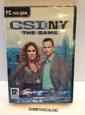 CSI NY NEW YORK THE GAME IL VIDEOGIOCO (PC) NUOVO SIGILLATO