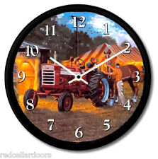 New FARMALL TRACTOR MODEL 460 Wall Clock DAVE BARNHOUSE HorsePower Red Tent Fair
