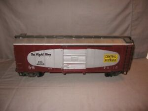 Lionel Large Scale G Central of Georgia The Right Way Box Car #46005  VGC