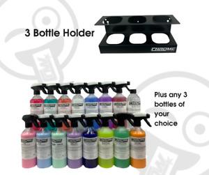 Chrome Northwest 3 Spray Bottle Holder INC 3 x 500ml BOTTLES (Pick & Mix)
