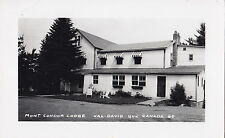Mont Condor Lodge VAL DAVID Laurentides Quebec 1958 Carte Photo Edouard Comellas