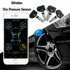 4 Internal Sensors BT4.0 TPMS Tire Pressure Alarm Monitor System for Android IOS