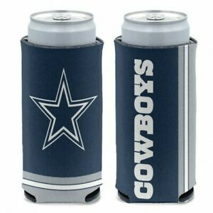 DALLAS COWBOYS SLIM CAN SELTZER COOLER KOOZIE TWO SIDED NFL OFFICIALLY LICENSED