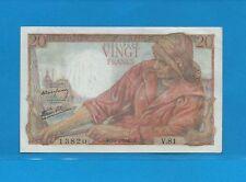 20 FRANCS (Pêcheur) du 15-4-1943   V.81  Billet N° 202013820