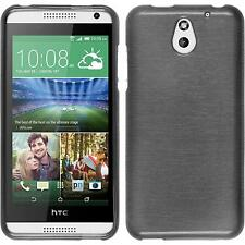 Silicone Case HTC Desire 610 brushed silver + protective foils